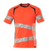 19082-771-22210 T-shirt - hi-vis rood/donkermarine