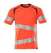 19082-771-22218 T-shirt - hi-vis rood/donkerantraciet