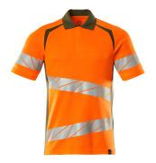 19083-771-1433 Poloshirt - hi-vis oranje/mosgroen