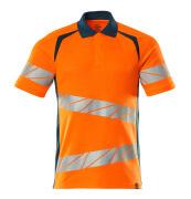 19083-771-1444 Poloshirt - hi-vis oranje/donkerpetrol