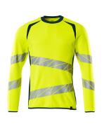 19084-781-1744 Sweatshirt - hi-vis geel/donkerpetrol