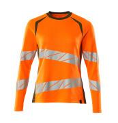 19091-771-1433 T-shirt, met lange mouwen - hi-vis oranje/mosgroen
