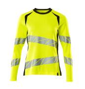 19091-771-1709 T-shirt, met lange mouwen - hi-vis geel/zwart