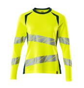 19091-771-1744 T-shirt, met lange mouwen - hi-vis geel/donkerpetrol