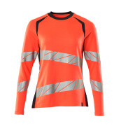 19091-771-22210 T-shirt, met lange mouwen - hi-vis rood/donkermarine