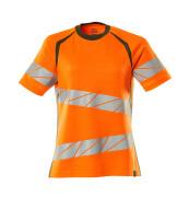 19092-771-1433 T-shirt - hi-vis oranje/mosgroen