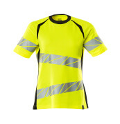 19092-771-1709 T-shirt - hi-vis geel/zwart