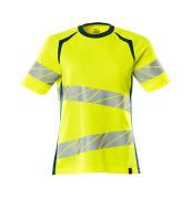 19092-771-1744 T-shirt - hi-vis geel/donkerpetrol