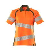 19093-771-1433 Poloshirt - hi-vis oranje/mosgroen
