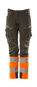 19178-511-01014 Broek met kniezakken - donkermarine/hi-vis oranje