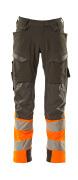 19179-511-01014 Broek met kniezakken - donkermarine/hi-vis oranje