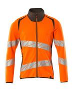 19184-781-1418 Sweatshirt met rits - hi-vis oranje/donkerantraciet
