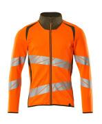 19184-781-1433 Sweatshirt met rits - hi-vis oranje/mosgroen