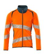 19184-781-1444 Sweatshirt met rits - hi-vis oranje/donkerpetrol