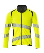 19184-781-17010 Sweatshirt met rits - hi-vis geel/donkermarine