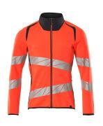 19184-781-22210 Sweatshirt met rits - hi-vis rood/donkermarine