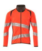 19184-781-22218 Sweatshirt met rits - hi-vis rood/donkerantraciet