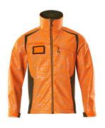 19202-291-1433 Softshell jas - hi-vis oranje/mosgroen