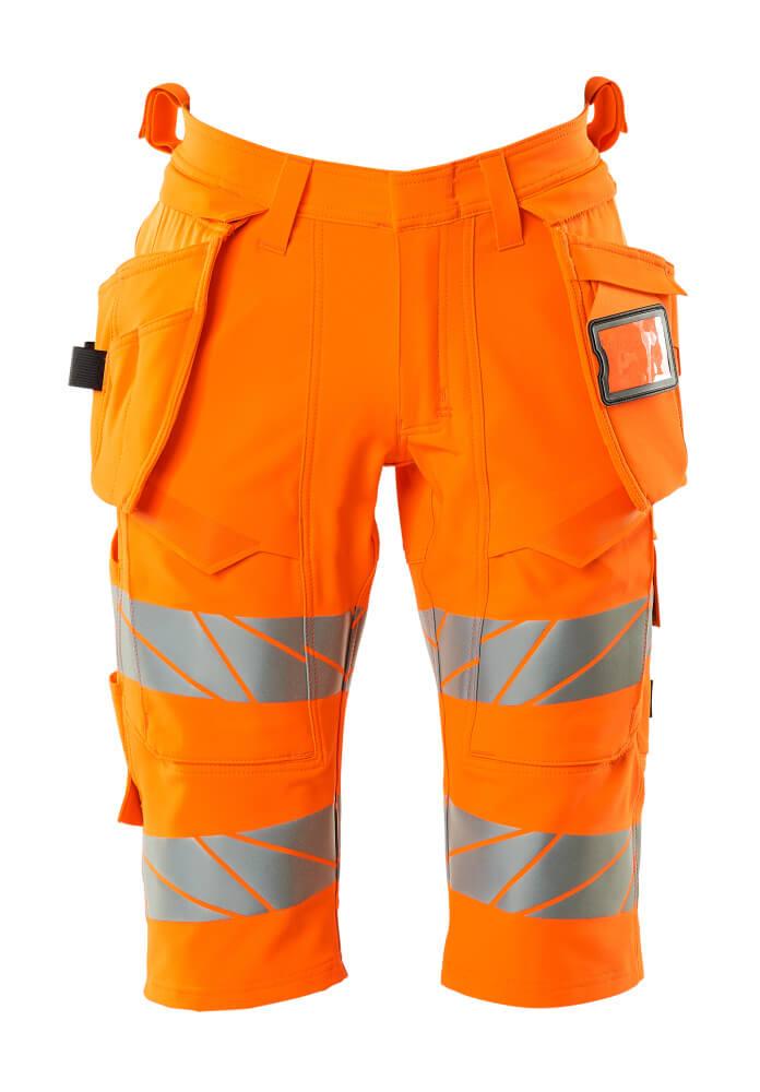 19349-711-14 Shorts, lange met spijkerzakken - hi-vis oranje