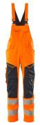 19569-236-14010 Amerikaanse overall met kniezakken - hi-vis oranje/donkermarine