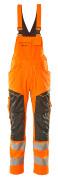 19569-236-1418 Amerikaanse overall met kniezakken - hi-vis oranje/donkerantraciet