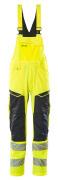 19569-236-17010 Amerikaanse overall met kniezakken - hi-vis geel/donkermarine