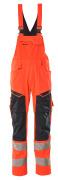 19569-236-22210 Amerikaanse overall met kniezakken - hi-vis rood/donkermarine