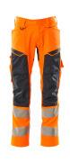19579-236-14010 Broek met kniezakken - hi-vis oranje/donkermarine