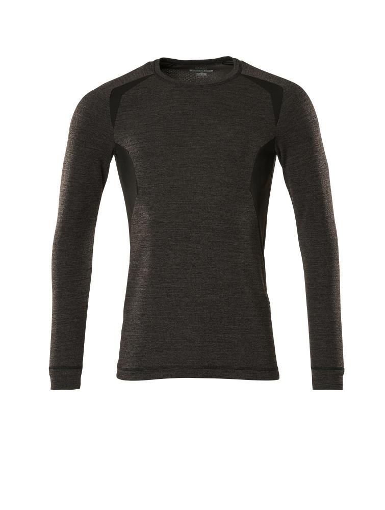 19881-794-1809 Functioneel hemd - donkerantraciet/zwart