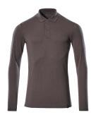 20483-961-18 Poloshirt, met lange mouwen - donkerantraciet