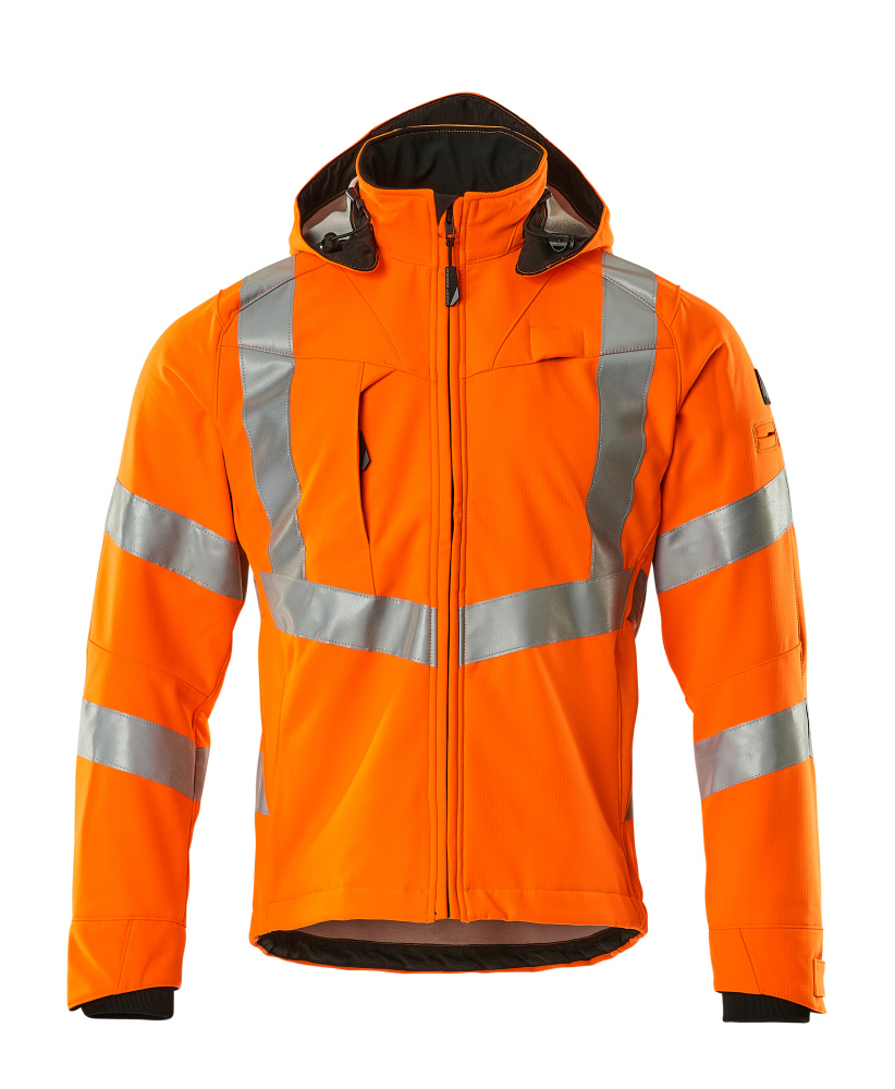20502-246-14 Softshell jas - hi-vis oranje