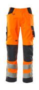 20879-236-14010 Broek met kniezakken - hi-vis oranje/donkermarine