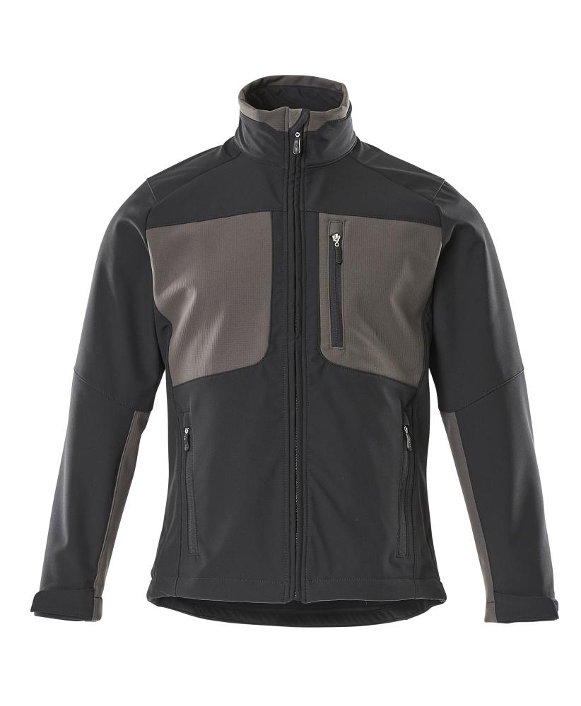 50057-824-0918 Softshell jas - zwart/donkerantraciet