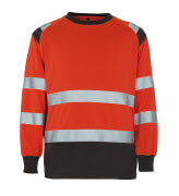 50110-854-A49 Sweatshirt - hi-vis rood/donkerantraciet