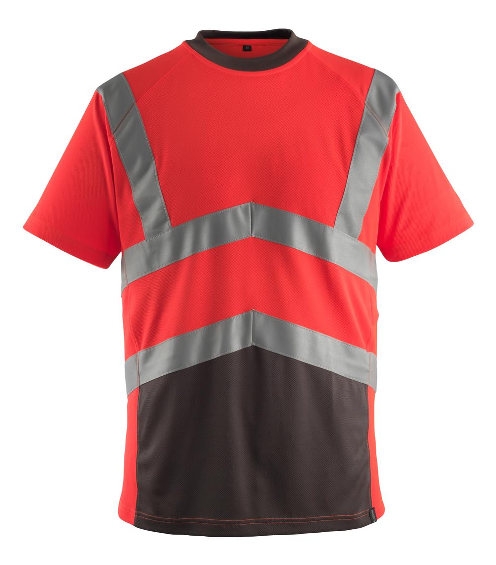 50118-949-A49 T-shirt - hi-vis rood/donkerantraciet