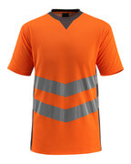50127-933-1418 T-shirt - hi-vis oranje/donkerantraciet