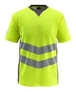 50127-933-1718 T-shirt - hi-vis geel/donkerantraciet