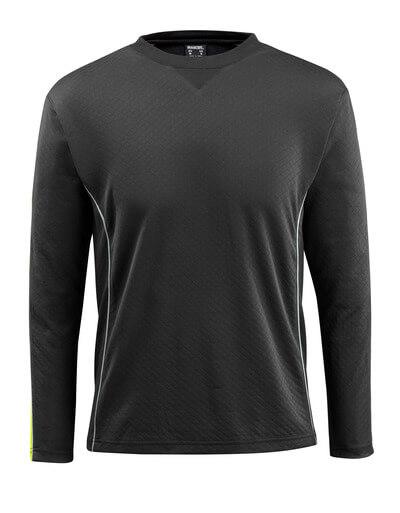 50128-933-0917 T-shirt, met lange mouwen - zwart/hi-vis geel