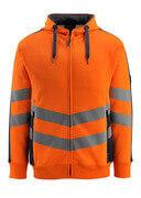 50138-932-14010 Capuchontrui met rits - hi-vis oranje/donkermarine