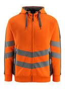 50138-932-1418 Capuchontrui met rits - hi-vis oranje/donkerantraciet