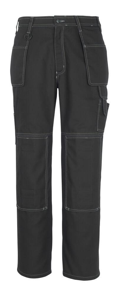 50194-884-09 Broek met knie- en spijkerzakken - zwart
