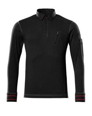 50352-833-09 Polosweatshirt - zwart