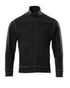 50353-834-09 Sweatshirt met rits - zwart