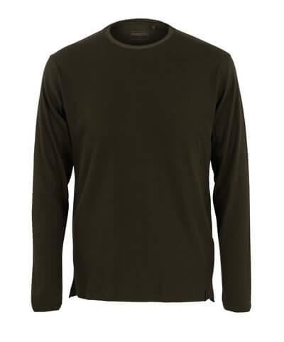 50402-865-19 T-shirt, met lange mouwen - donkerolijf