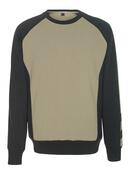50503-830-5509 Sweatshirt - lichtkhaki/zwart