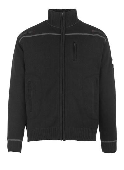 50530-835-09 Gebreide trui met rits - zwart
