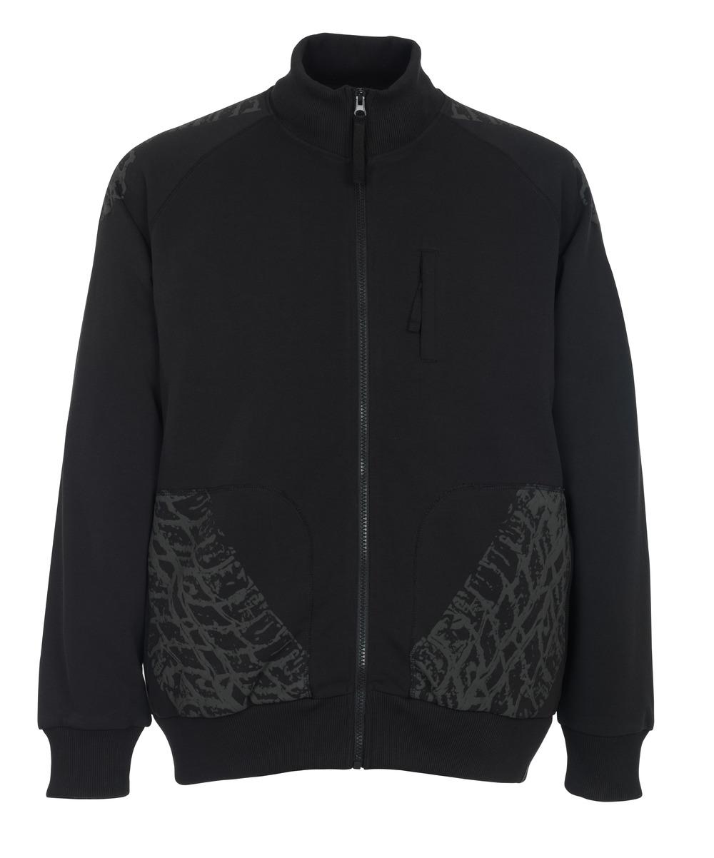 50549-830-09 Sweatshirt met rits - zwart