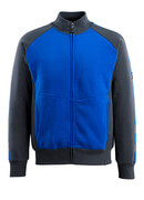 50565-963-1809 Sweatshirt met rits - donkerantraciet/zwart