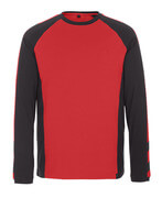 50568-959-0209 T-shirt, met lange mouwen - rood/zwart
