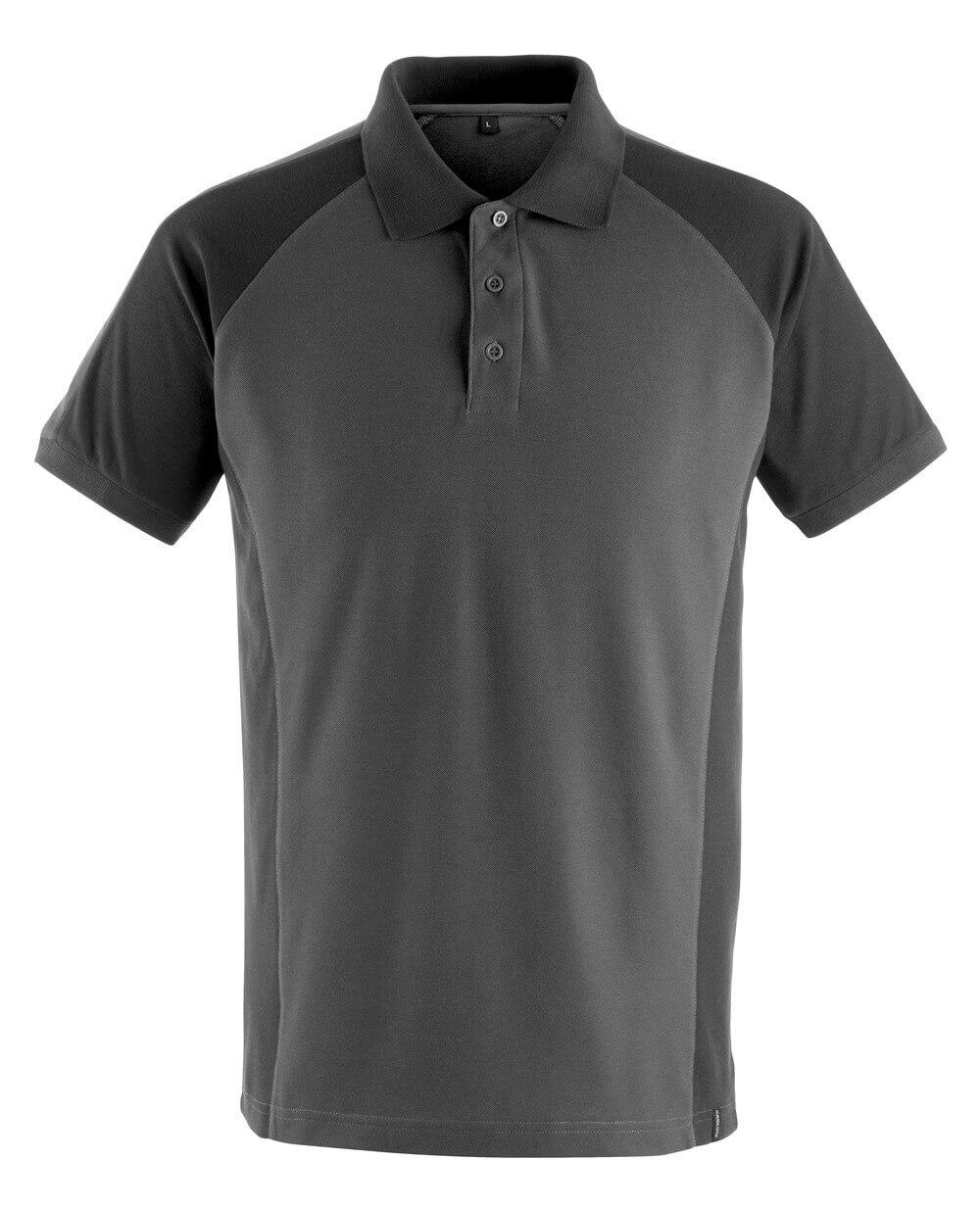 50569-961-1809 Poloshirt - donkerantraciet/zwart